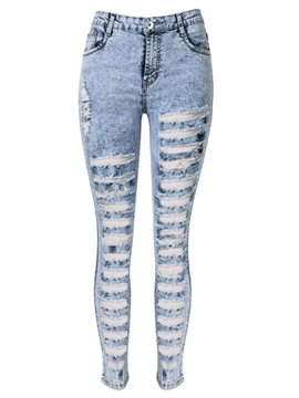 Ericdress Hole Pencil Skinny Jeans