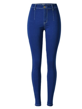 Ericdress Blue High-Waist Skinny Women's Jeans