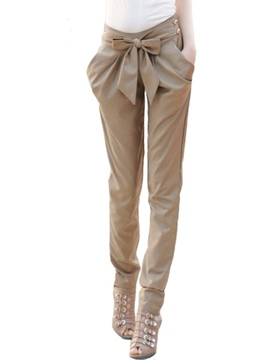 Ericdress Women's OL Casual Bow Knot Harem Slim Comfy Pants