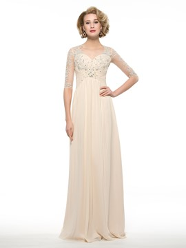 Ericdress Elegant Sweetheart Half Sleeves A Line Mother Of The Bride Dress