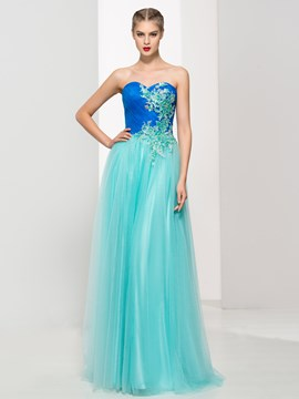 Ericdress Sweetheart Appliques Sequins Pleats Prom Dress
