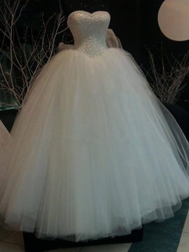 Ericdress Gorgeous Pearls Sweetheart Ball Gown Wedding Dress