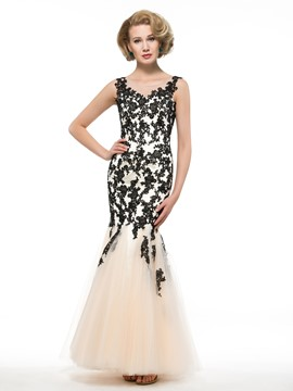 Ericdress Fancy Scoop Appliques Mermaid Mother Of The Bride Dress