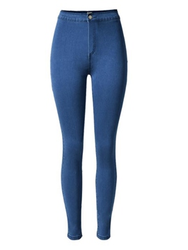 Ericdress Simple Solid Color Jeans