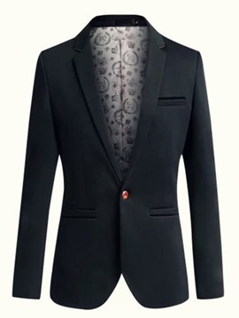 Ericdress Plain One Button Slim Men's Blazer