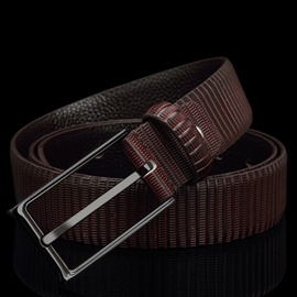 Ericdress Stripe Embossed Men's Pin Buckle Belt