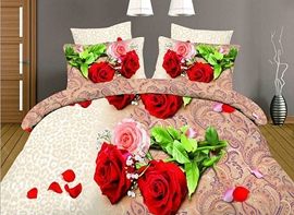 Ericdress Ethnic Rose Print 3D Bedding Sets