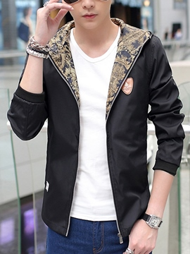 Ericdress Zip Hooded Casual Men's Jacket