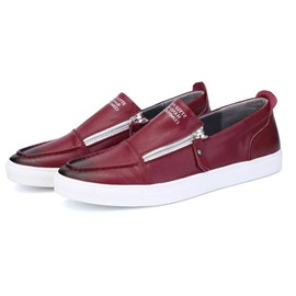 Ericdress Solid Color Patent Leather Men's Loafers
