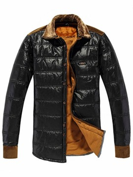 Ericdress Thicken Flocking Warm Men's Winter Jacket