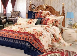 Ericdress Honorable Peony Print Cotton Bedding Sets