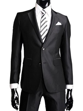 Ericdress Black Two Buttons Men's Casual Suit