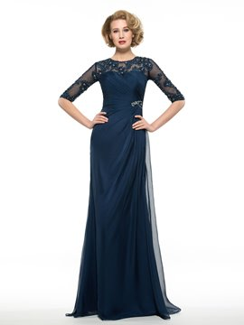Ericdress Elegant Appliques Half Sleeves A Line Mother Of The Bride Dress
