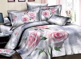 Ericdress Watering Flower Print 3D Bedding Sets