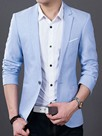 Ericdress Plain Thin Slim Men's Blazer
