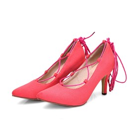 Ericdress Cross Strappy Point Toe Prom Shoes