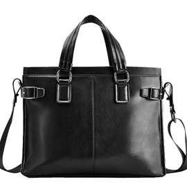 Ericdress Thread Decorated PU Briefcase For Men
