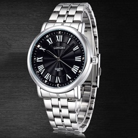 Ericdress Decent Roman Numerals Steel Belt Men's Watch