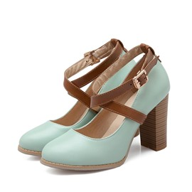 Ericdress Cross Strap Chunky Heel Prom Shoes
