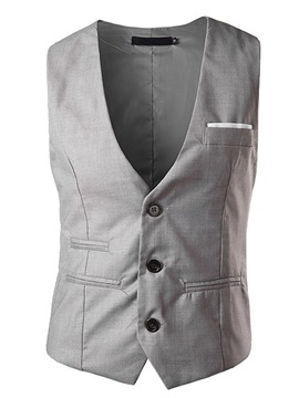 Ericdress Plain Thin Slim Men's Vest