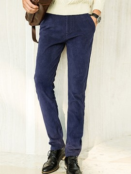 Ericdress Plain Thicken Warm Corduroy Men's Pants