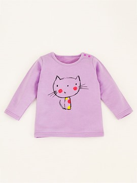 Ericdress Cartoon Candy Color Girls T-Shirt