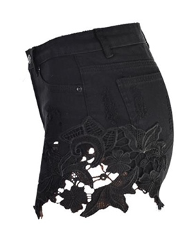 Ericdress Lace Patchwork Shorts