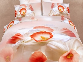 Ericdress Never Forget Me Gradient Flower Print Bedding Sets