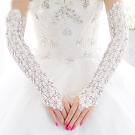 Ericdress Fancy Long Lace Wedding Gloves