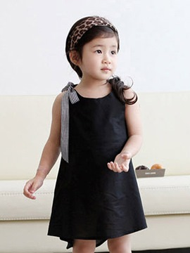 Ericdress Sleeveless Lace-Up Girls Dress