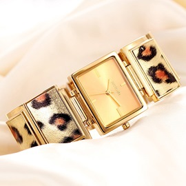 Ericdress Square Leopard Ladies Watch