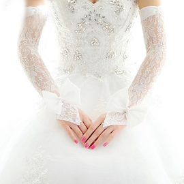 Ericdress Long Lace Bridal Gloves