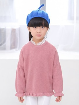 Ericdress Plain Girls Sweater