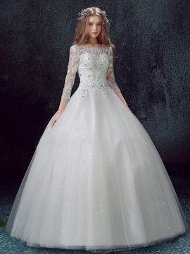 Ericdress Beautiful Ball Gown Wedding Dress With Sleeves