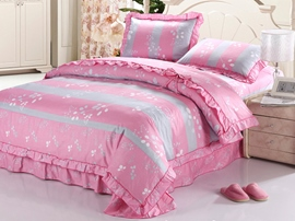 Ericdress Pink Happiness Love Cotton Bedding Sets