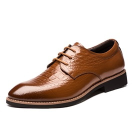 Ericdress Croco Office Point Toe Men's Oxfords