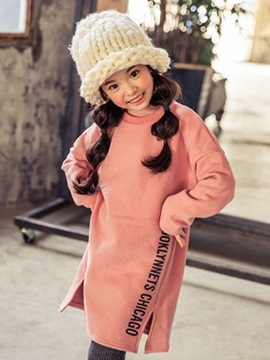 Ericdress Letter Print Girls Dress