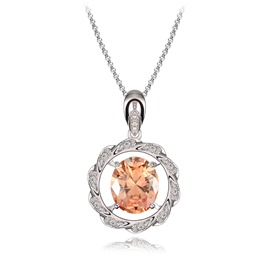 Ericdress Meteor Circle Crystal Pendant Necklace
