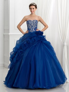 Ericdress trägerlosen Pailletten Stickerei Pick-Ups Ball Gown Quinceanera Kleid