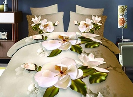 Ericdress Gorgeous Beautiful Flower Print 3D Bedding Sets