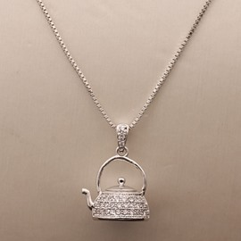 Ericdress Exquisite Teapot Pendant Necklace