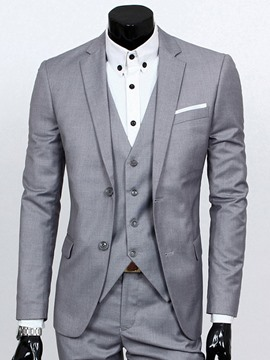 Ericdress Plain Slim Three-Piece of Men's Casual Suit