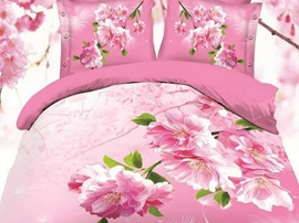 Ericdress Bright Flowers Print 3D Bedding Sets