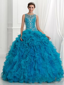 Ericdress Riemen Friesen Stickerei Rüschen Ball Gown Quinceanera Kleid