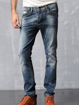 Ericdress Low-Rise Stretch Slim Men's Pencil Jeans