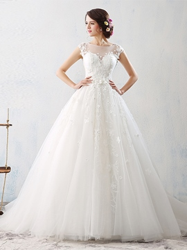Ericdress Charming Flowers Backless Wedding Dress