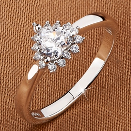 Ericdress Platinum Plated Heart Shape Ring