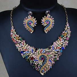 Ericdress Celebrity Exaggerate Rhinestone Jewelry Set