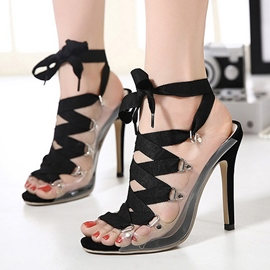 Ericdress Open Toe Cross Strap Stiletto Sandals