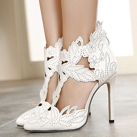 Ericdress Amazing Rhinestone Cut Out Stiletto Sandals